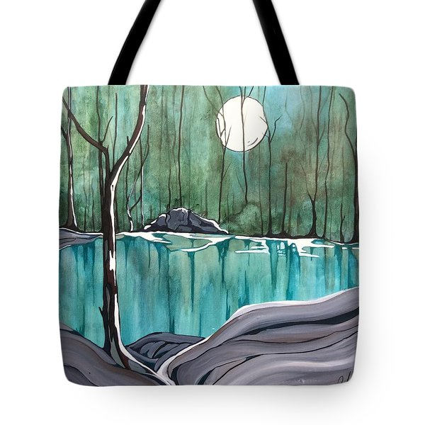 The Pond Tote Bag by Pat Purdy