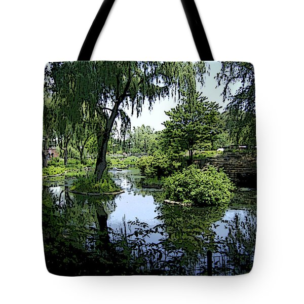 Tote Bag featuring the photograph The Pond by Skyler Tipton