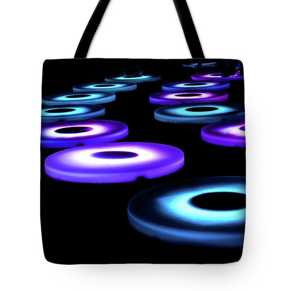Tote Bag featuring the photograph The Pool Circles by Mark Dodd