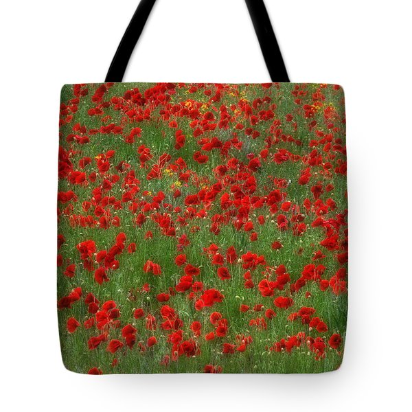 The Poppy Field Tote Bag