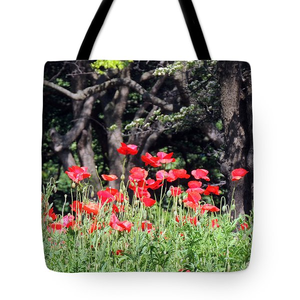 The Poppy Garden Tote Bag