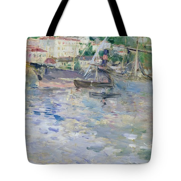 The Port At Nice Tote Bag by Berthe Morisot