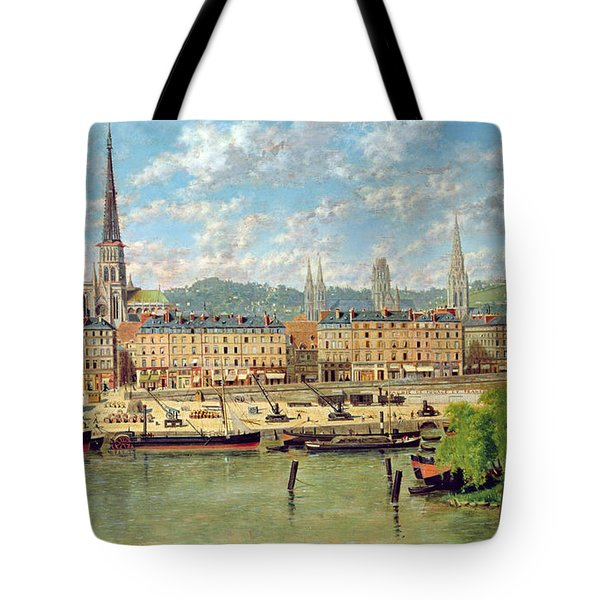 The Port At Rouen Tote Bag by Torello Ancillotti