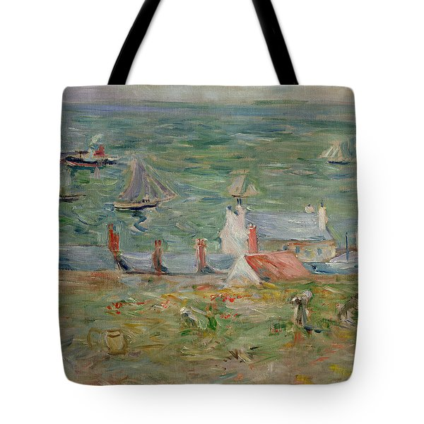The Port Of Gorey On Jersey Tote Bag by Berthe Morisot