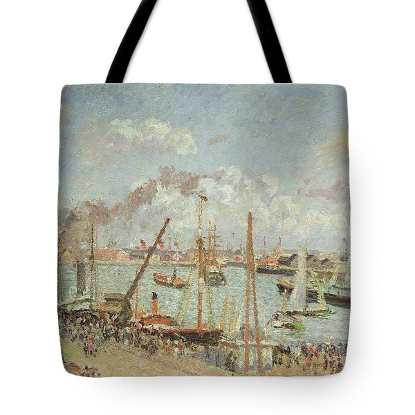 The Port Of Le Havre In The Afternoon Sun Tote Bag by Camille Pissarro