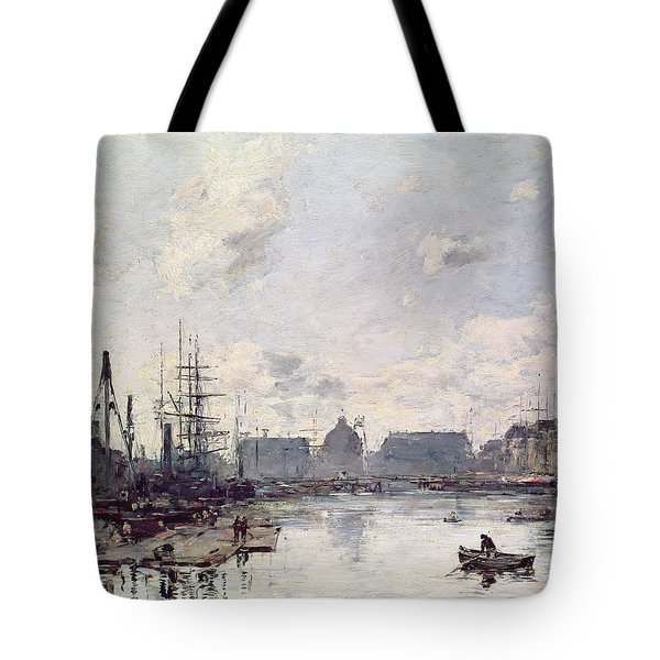 The Port Of Trade Tote Bag by Eugene Louis Boudin