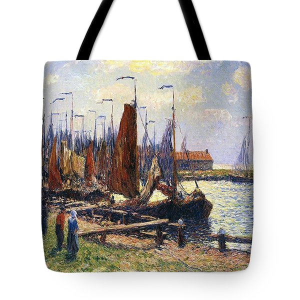 The Port Of Volendam Tote Bag by Henry Moret