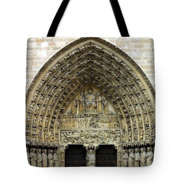 The Portal Of The Last Judgement Of Notre Dame De Paris Tote Bag