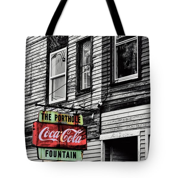 The Porthole Portland Maine Tote Bag
