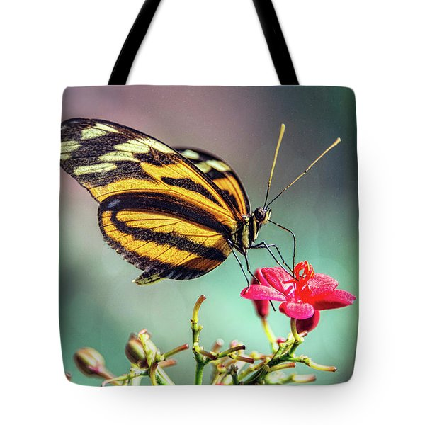 Tote Bag featuring the photograph The Postman Longwing  by Saija Lehtonen