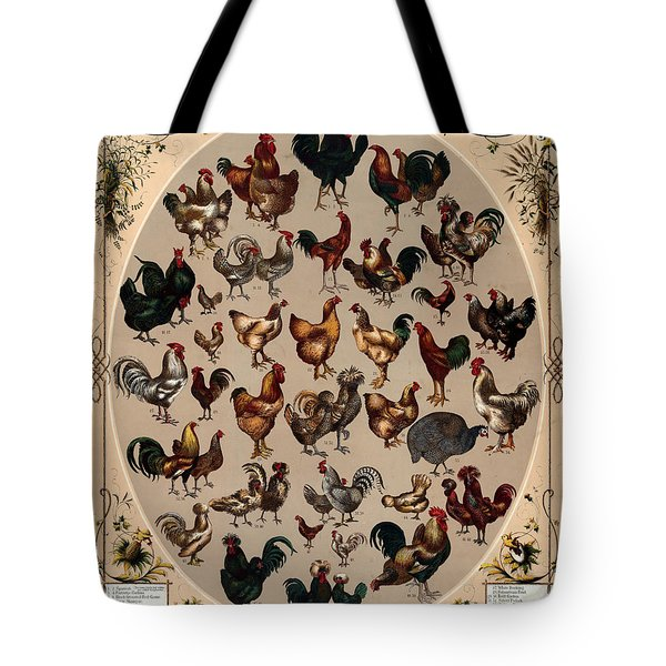 The Poultry Of The World 1868 Tote Bag