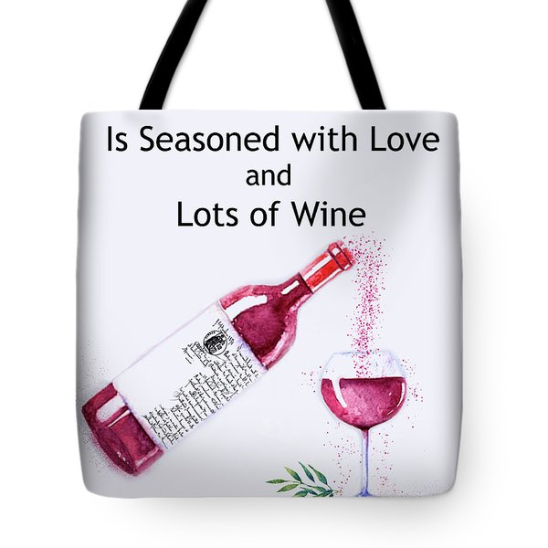 Tote Bag featuring the mixed media The Pour by Colleen Taylor