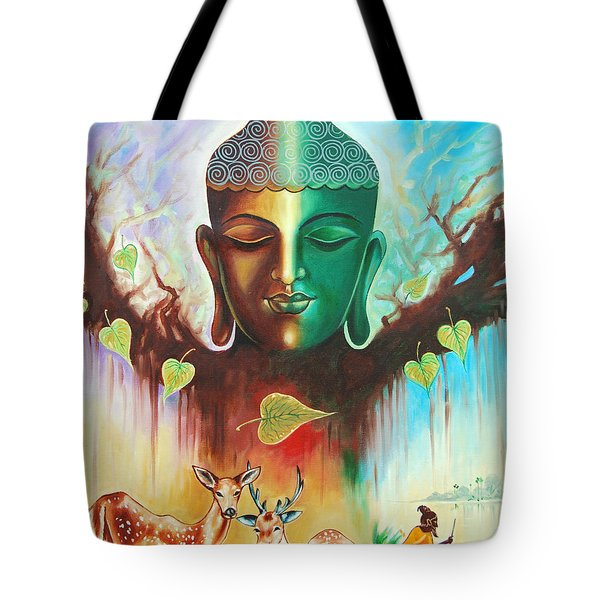 The Power Of Buddha Tote Bag by Ragunath Venkatraman