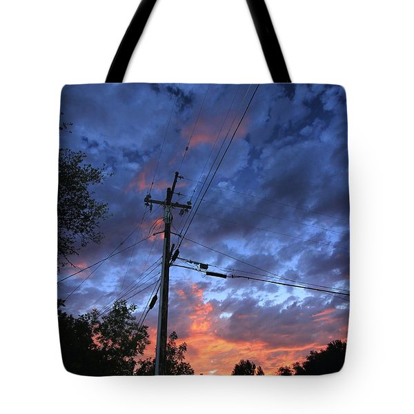 Tote Bag featuring the photograph The Power Of Sunset by Sean Sarsfield