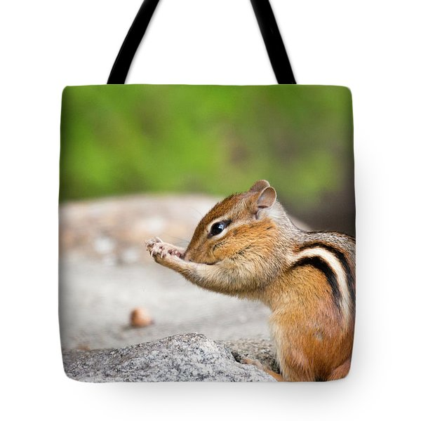The Praying Chipmunk Tote Bag
