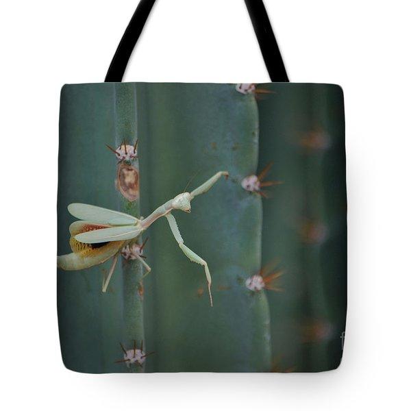 The Praying Mantis Tote Bag by Donna Greene