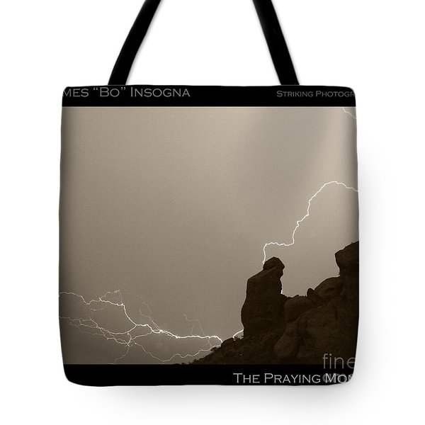 The Praying Monk Camelback Mountain Tote Bag by James BO  Insogna