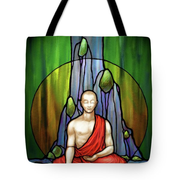The Praying Monk Tote Bag