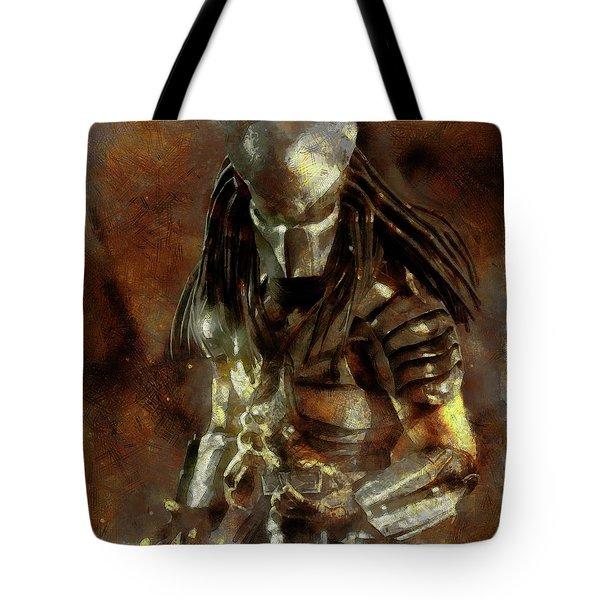 The Predator Scroll Tote Bag