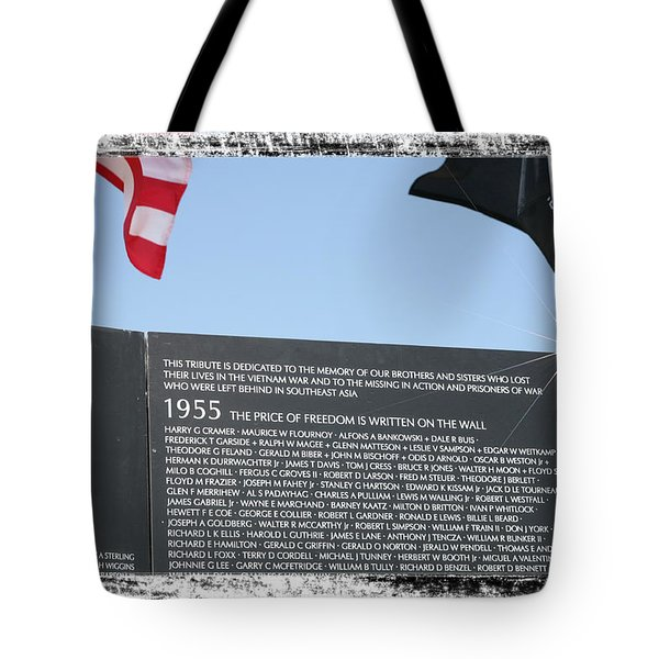 The Price Of Freedom Tote Bag by Gary Baird