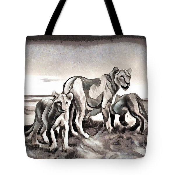 Tote Bag featuring the digital art The Pride by Pennie McCracken