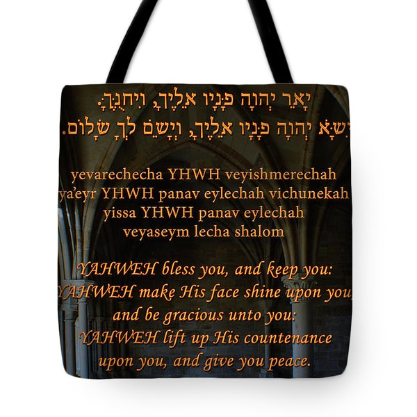 The Priestly Aaronic Blessing Tote Bag