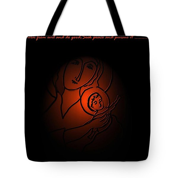 The Prince Of Peace Tote Bag by Latha Gokuldas Panicker