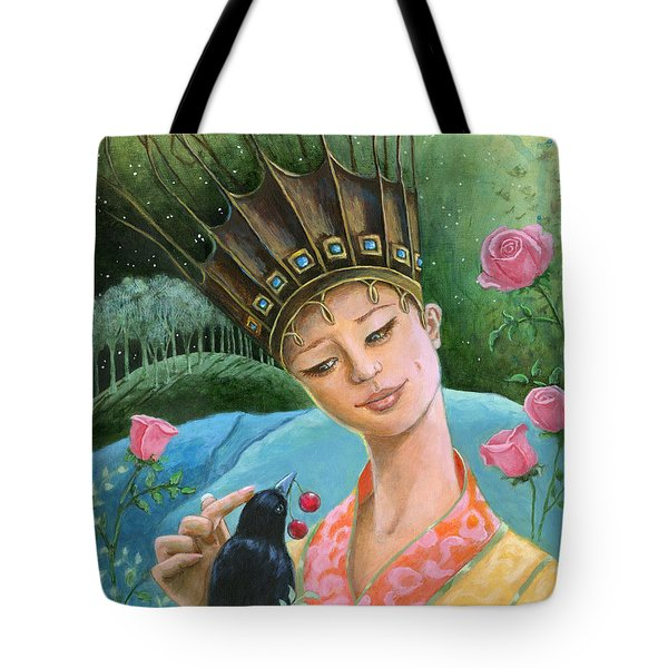 The Princess And The Crow Tote Bag