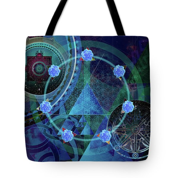 The Prism Of Time Tote Bag by Kenneth Armand Johnson