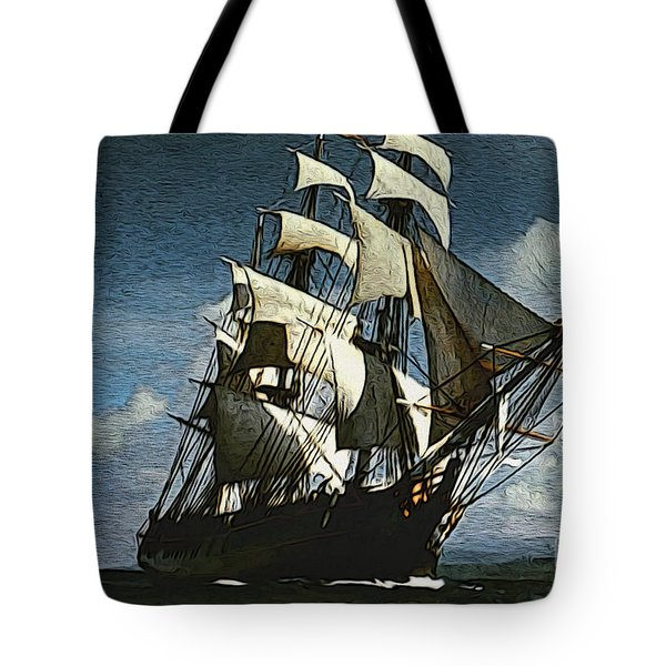 The Privateer Off Tortuga Tote Bag