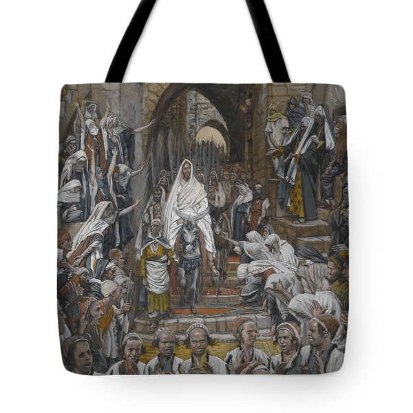 The Procession In The Streets Of Jerusalem Tote Bag by Tissot