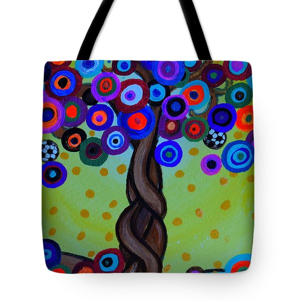 Tote Bag featuring the painting The Prolific Tree by Pristine Cartera Turkus