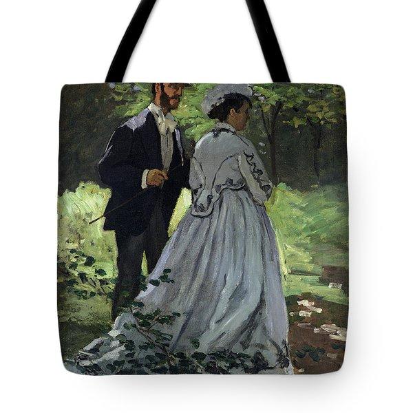 The Promenaders Tote Bag by Claude Monet