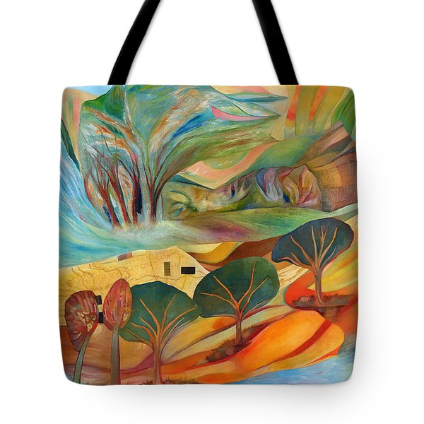 Tote Bag featuring the painting The Promised Land by Linda Cull