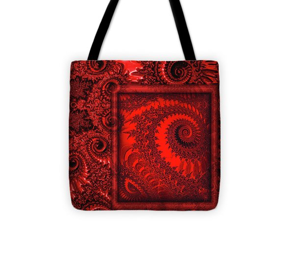 The Proper Victorian In Red  Tote Bag by Wendy J St Christopher