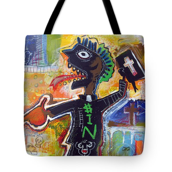 Tote Bag featuring the painting The Prophet by Rick Baldwin