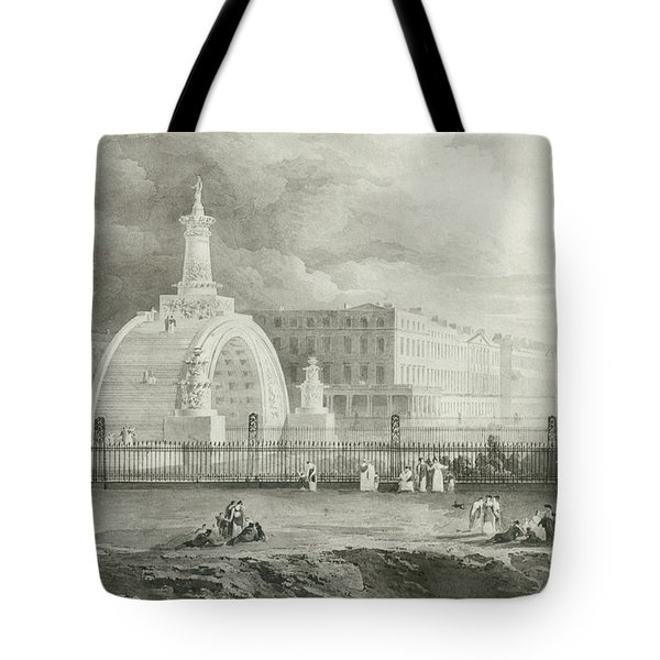 The Proposed Triumphal Arch From Portland Place To Regent's Park, 1820  Tote Bag