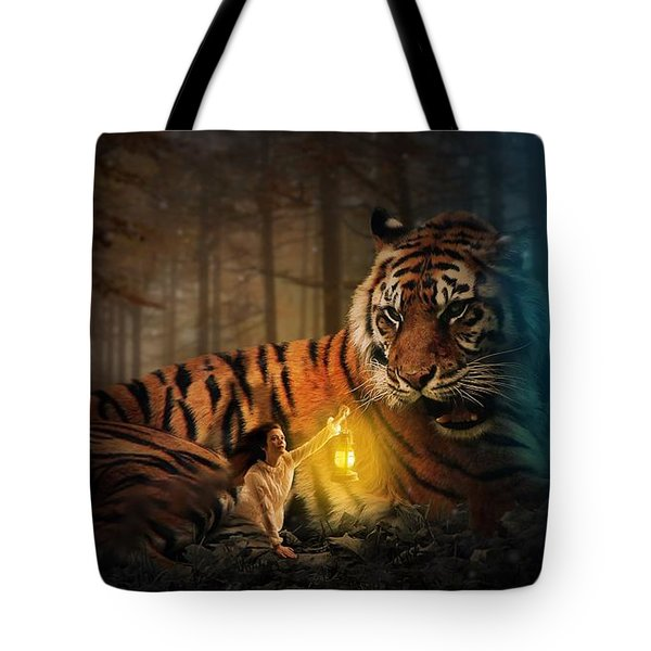 The Protector Tote Bag by Davandra Cribbie