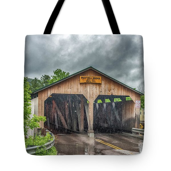 Tote Bag featuring the photograph The Pulp Mill Bridge by Guy Whiteley