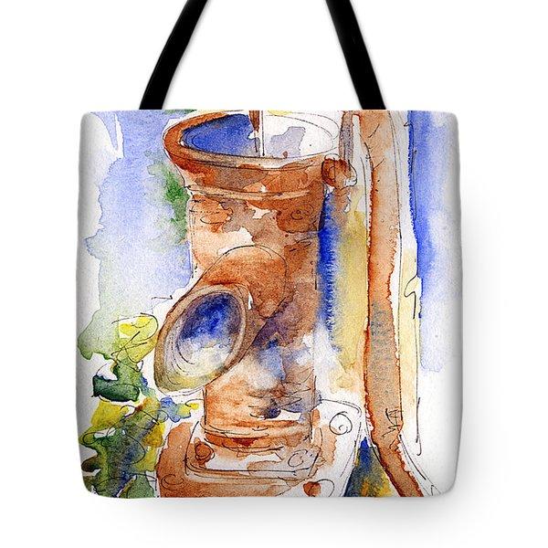 The Pump At Mas St Antoine Tote Bag by Pat Katz