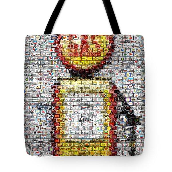 The Pump Mosaic Tote Bag by Paul Van Scott