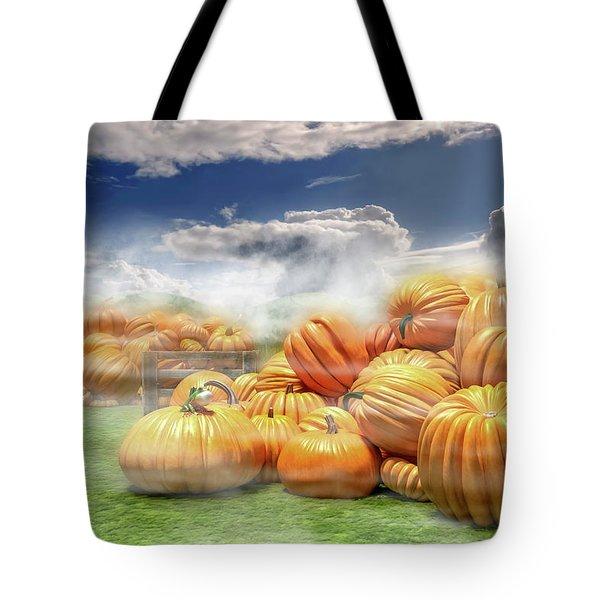 The Pumpkin Field Tote Bag