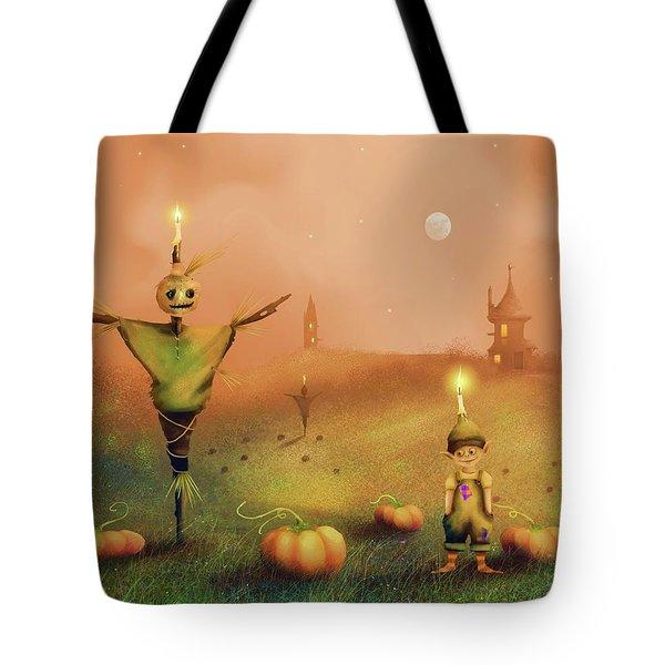 The Pumpkin Thief Tote Bag