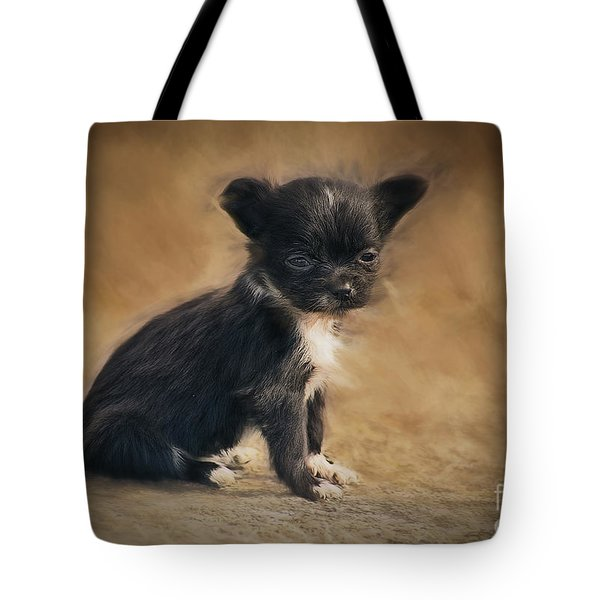 The Puppy Tote Bag by Billie-Jo Miller