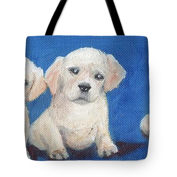 The Pups 1 Tote Bag by Roger Wedegis