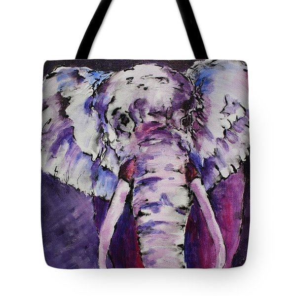 The Purple Bull Tote Bag by Tara Moorman