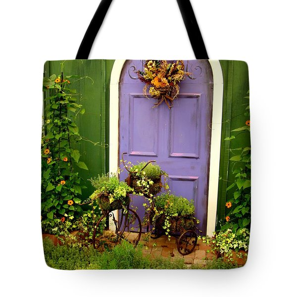 The Purple Door Tote Bag