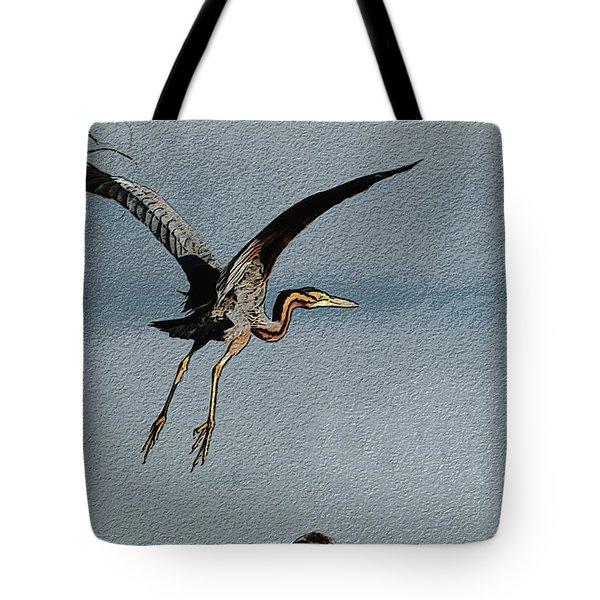 The Purple Heron Tote Bag