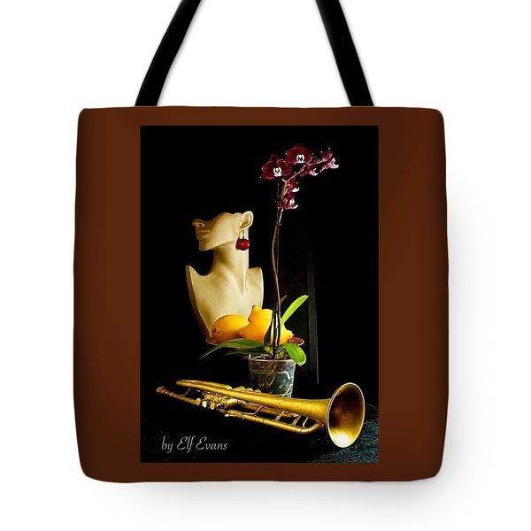 The Purple Orchid Tote Bag by Elf Evans