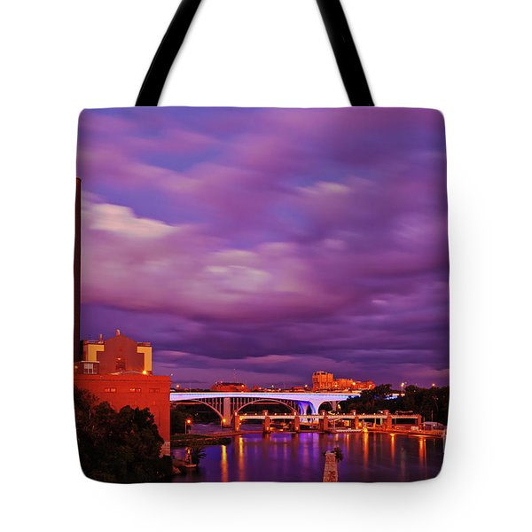 Tote Bag featuring the photograph The Purple People Eaters Of Minneapolis, Minnesota by Sam Antonio Photography